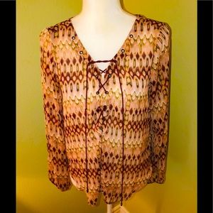 NEW JESSICA SIMPSON Nature Morgan Blouse-Size Med.